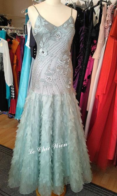 Designkleid mermaid Perlenstickerei